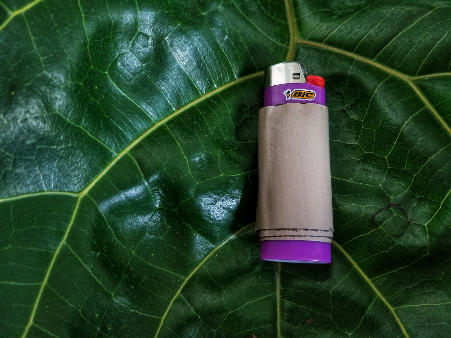 camping hacks for your lighter with duct tape