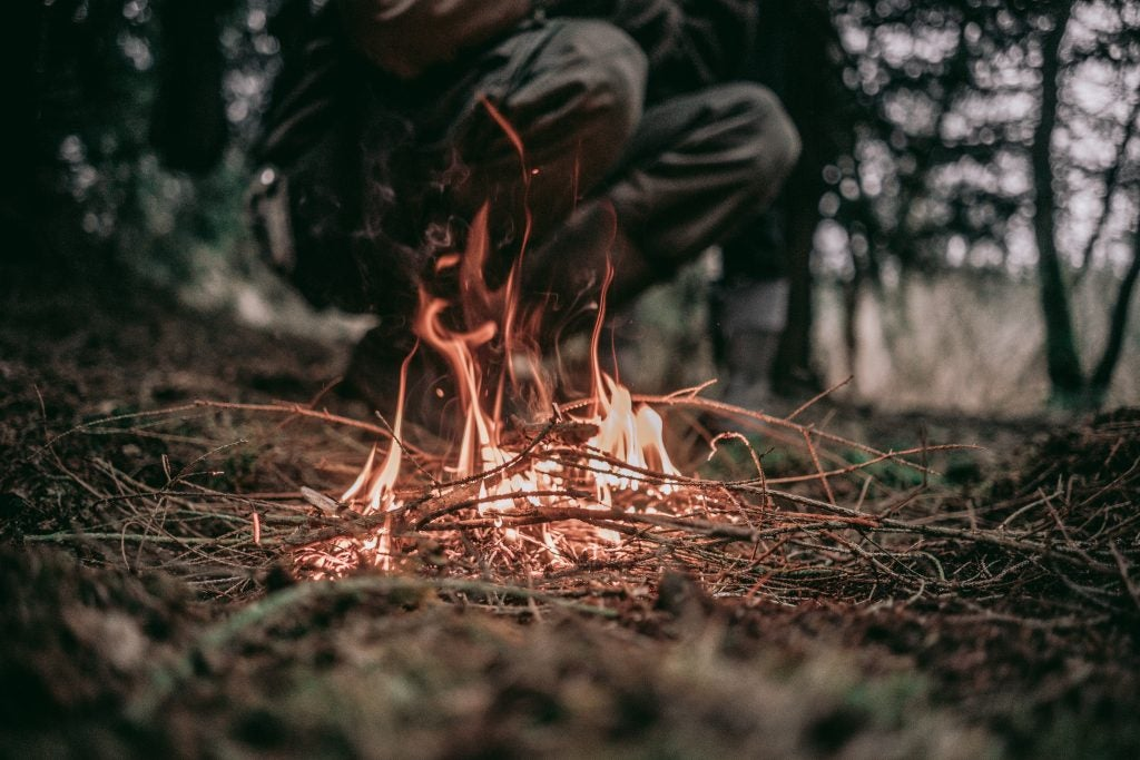 Survival skills to build a fire