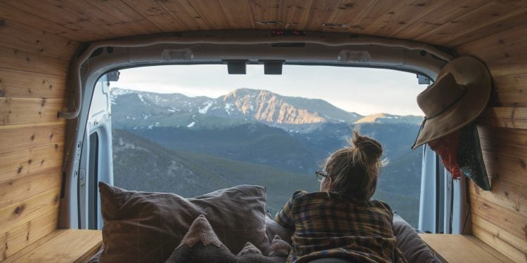 views from a camper van conversion