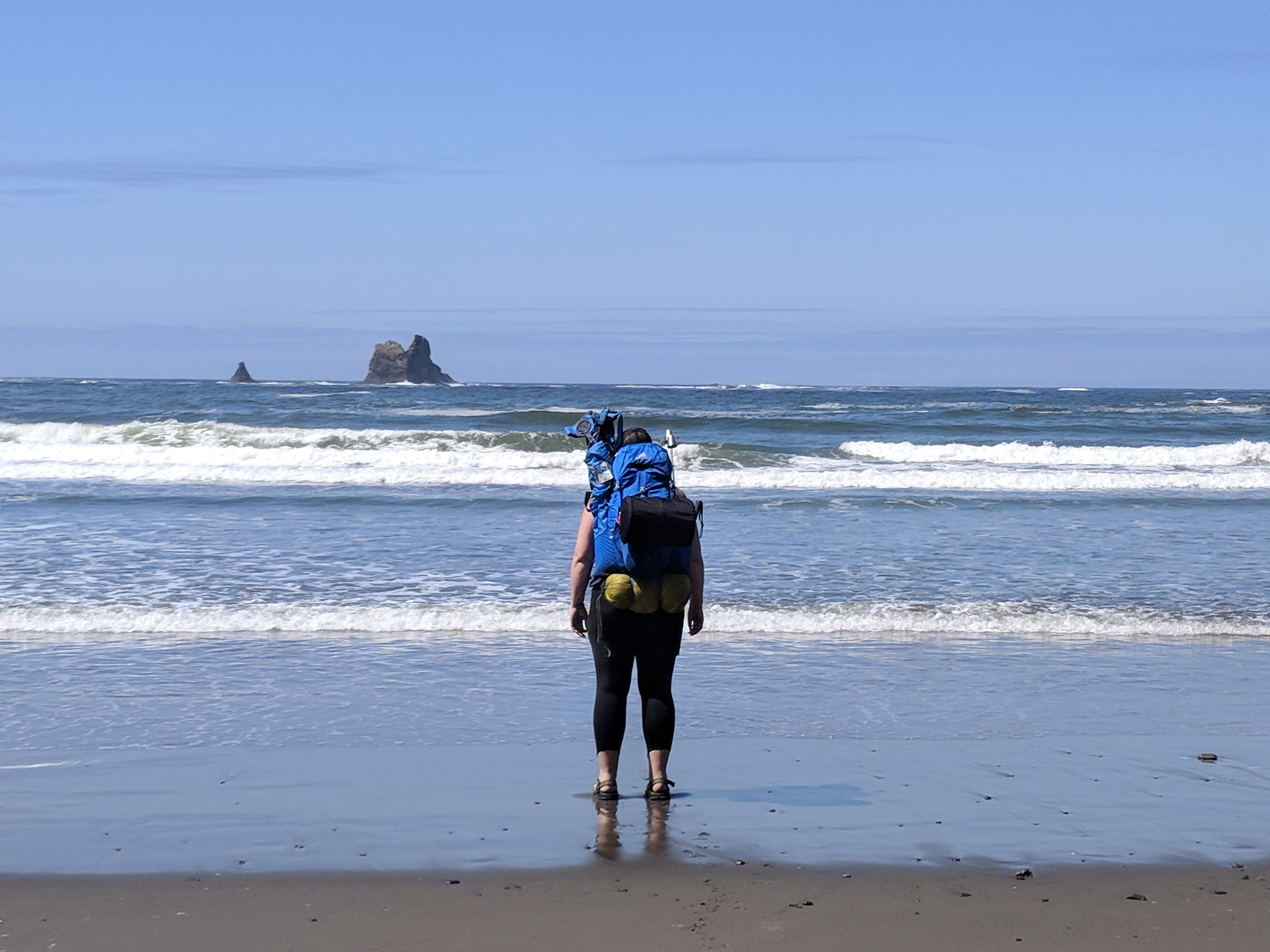 camping without a car in La Push, Washington
