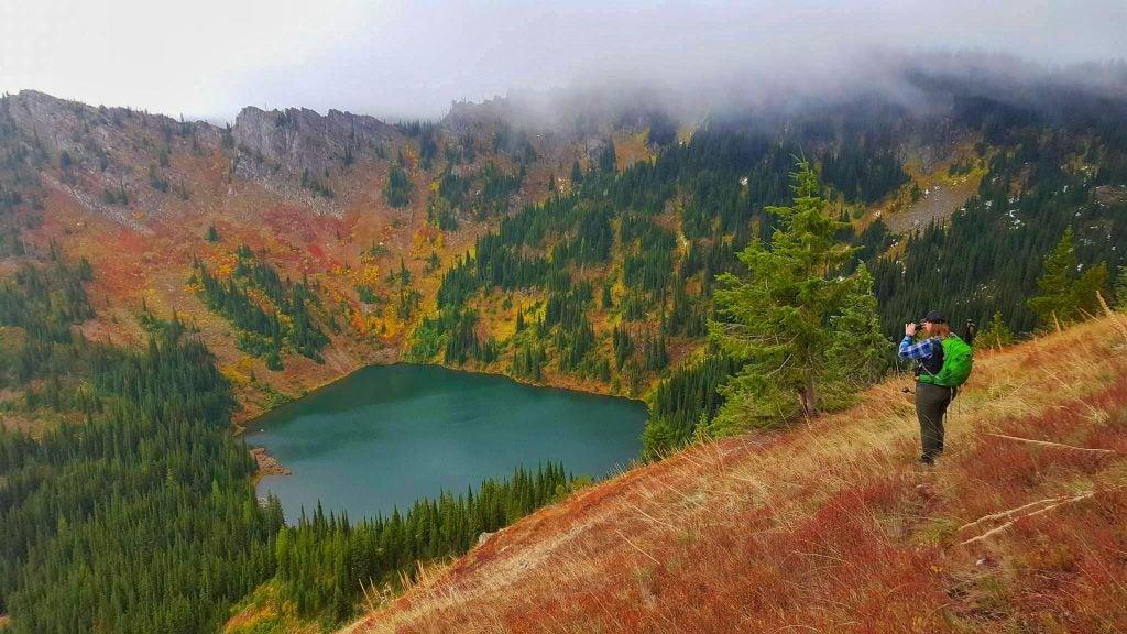 autumn woods near stevens lake trail