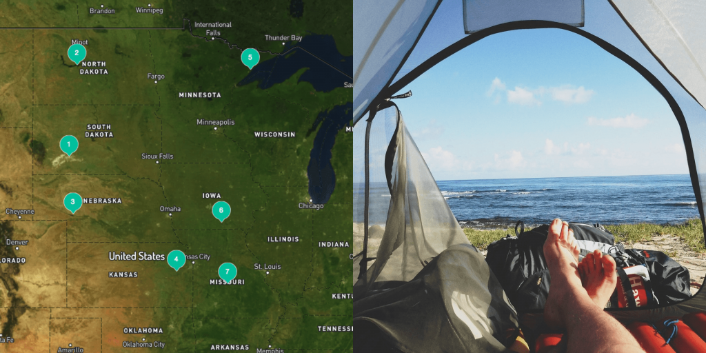save a list of midwest campgrounds