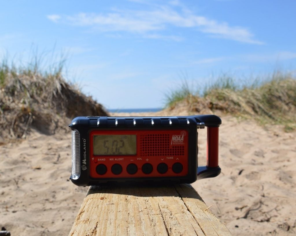 weather radio camping gadget