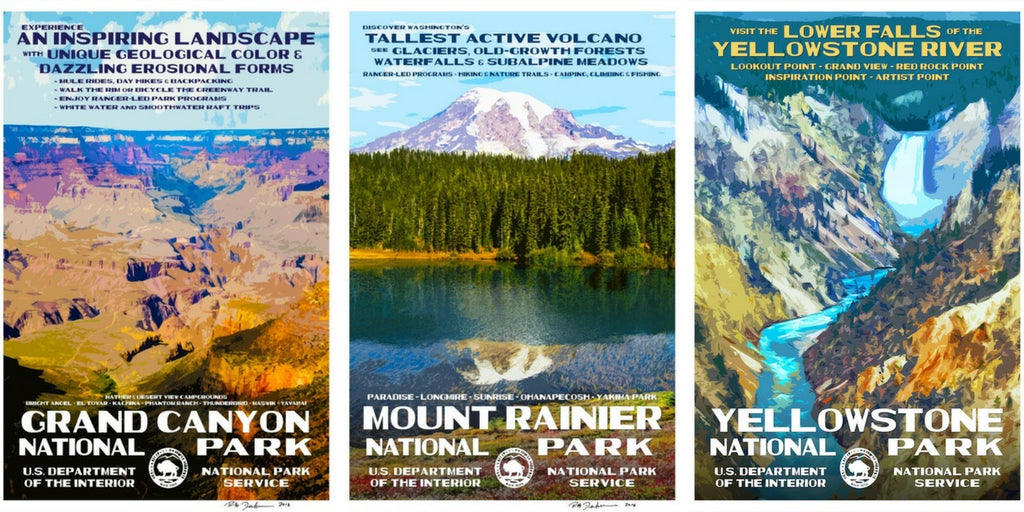 National Park Posters With A Vintage Feel From Rob Decker
