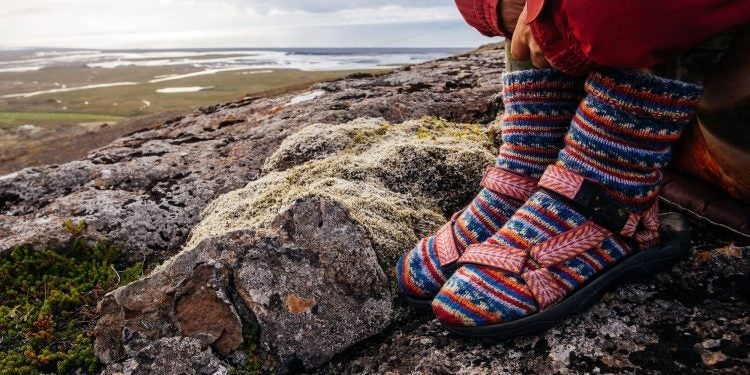 colorful wool socks