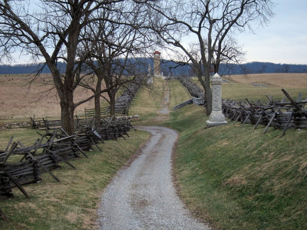 Antietam National Battlefield Sunken Road (Bloody Lane)