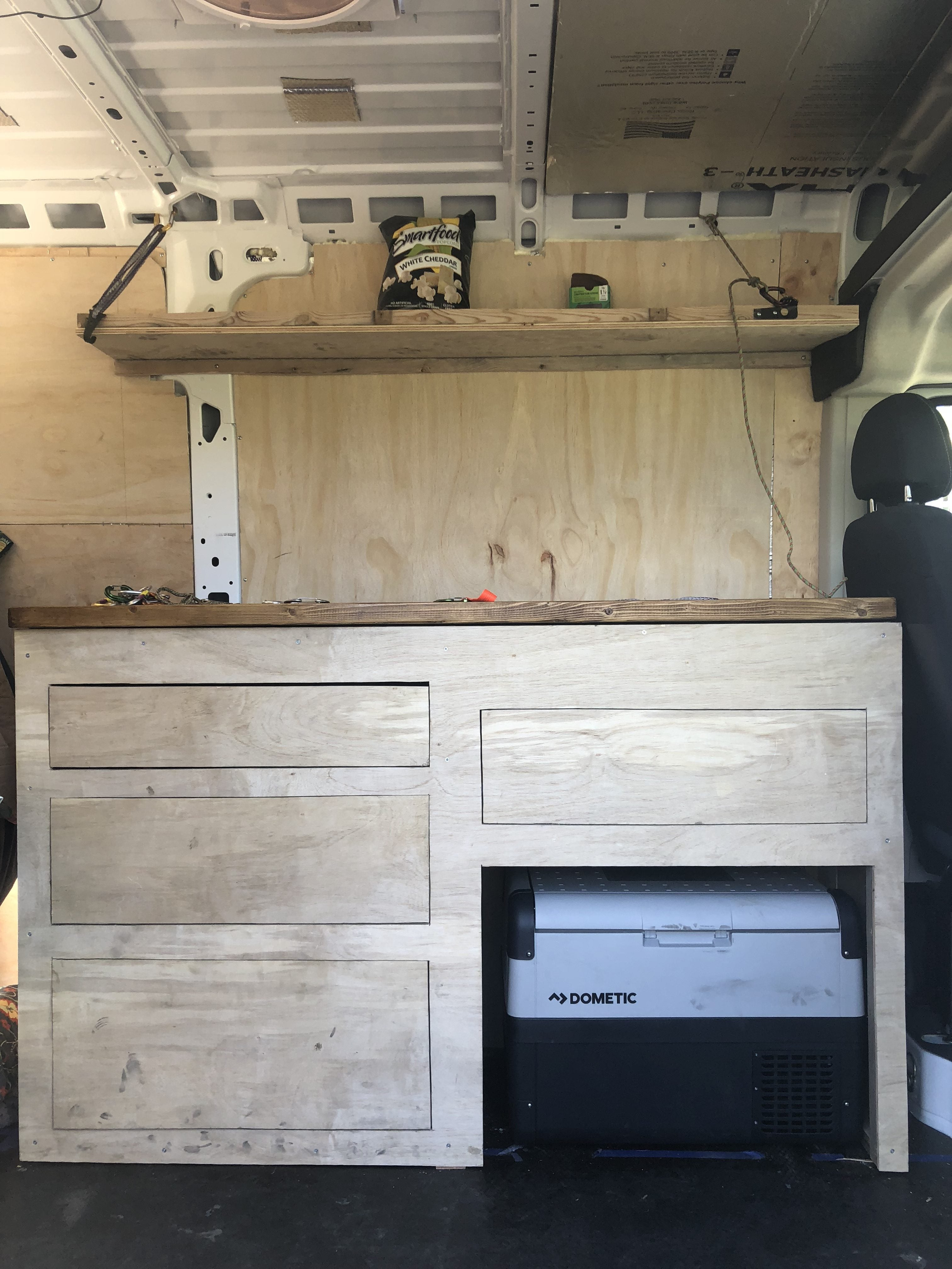 kitchen living in a van