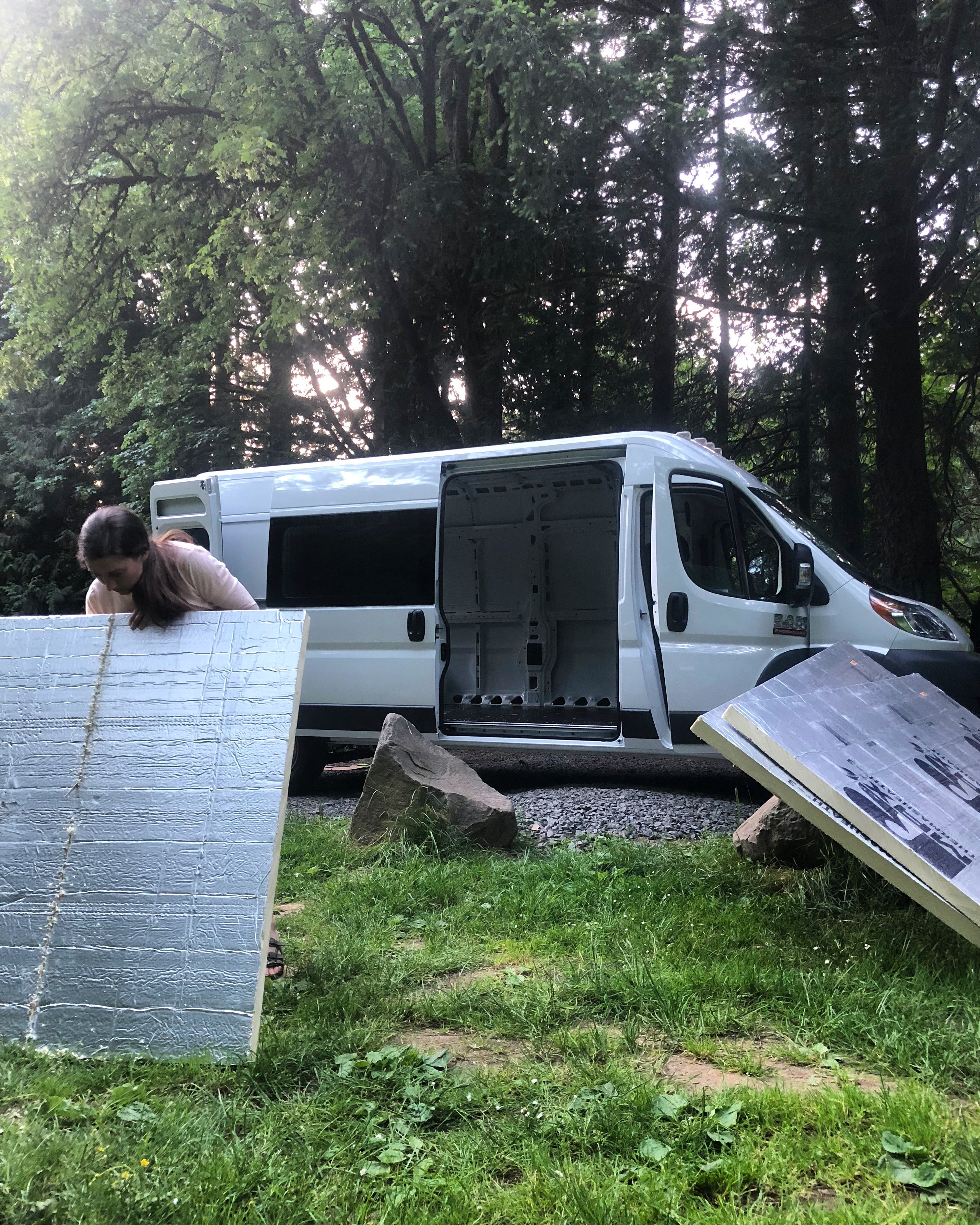 living in a van construction