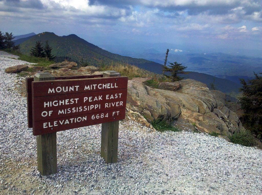 mountains-to-sea trail at mount mitchell peak