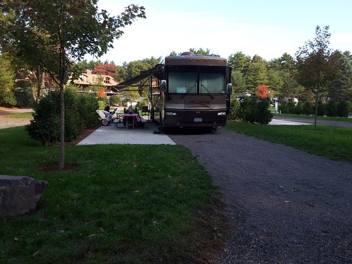 full hookup rv campsite at normandy farms