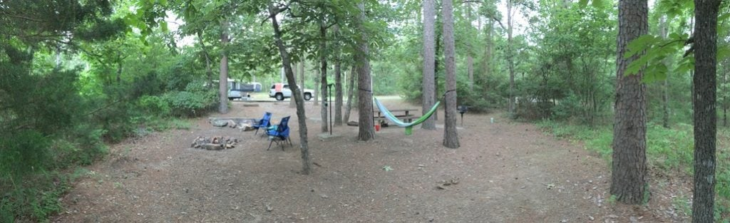 campsite at robbers cave state park