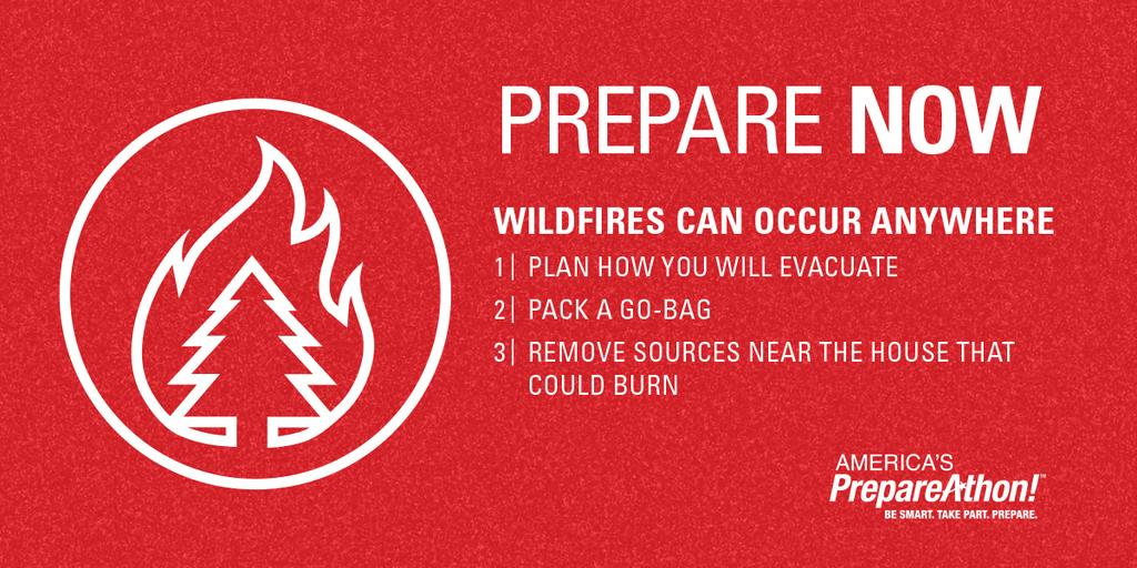 emergency preparedness wildfire tips from prepareathon