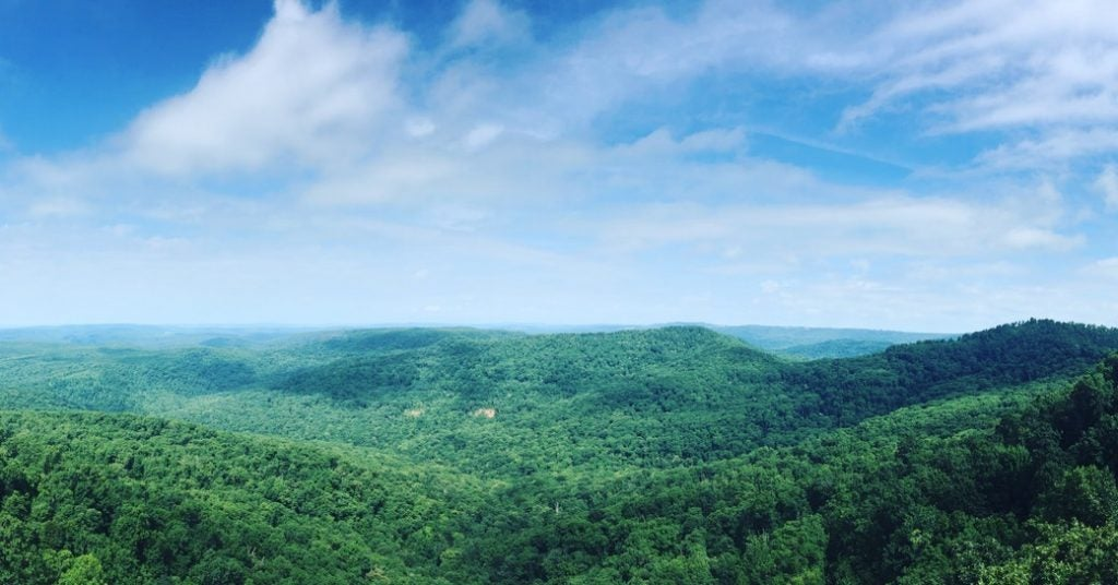 panoramic views of the ozark national forest
