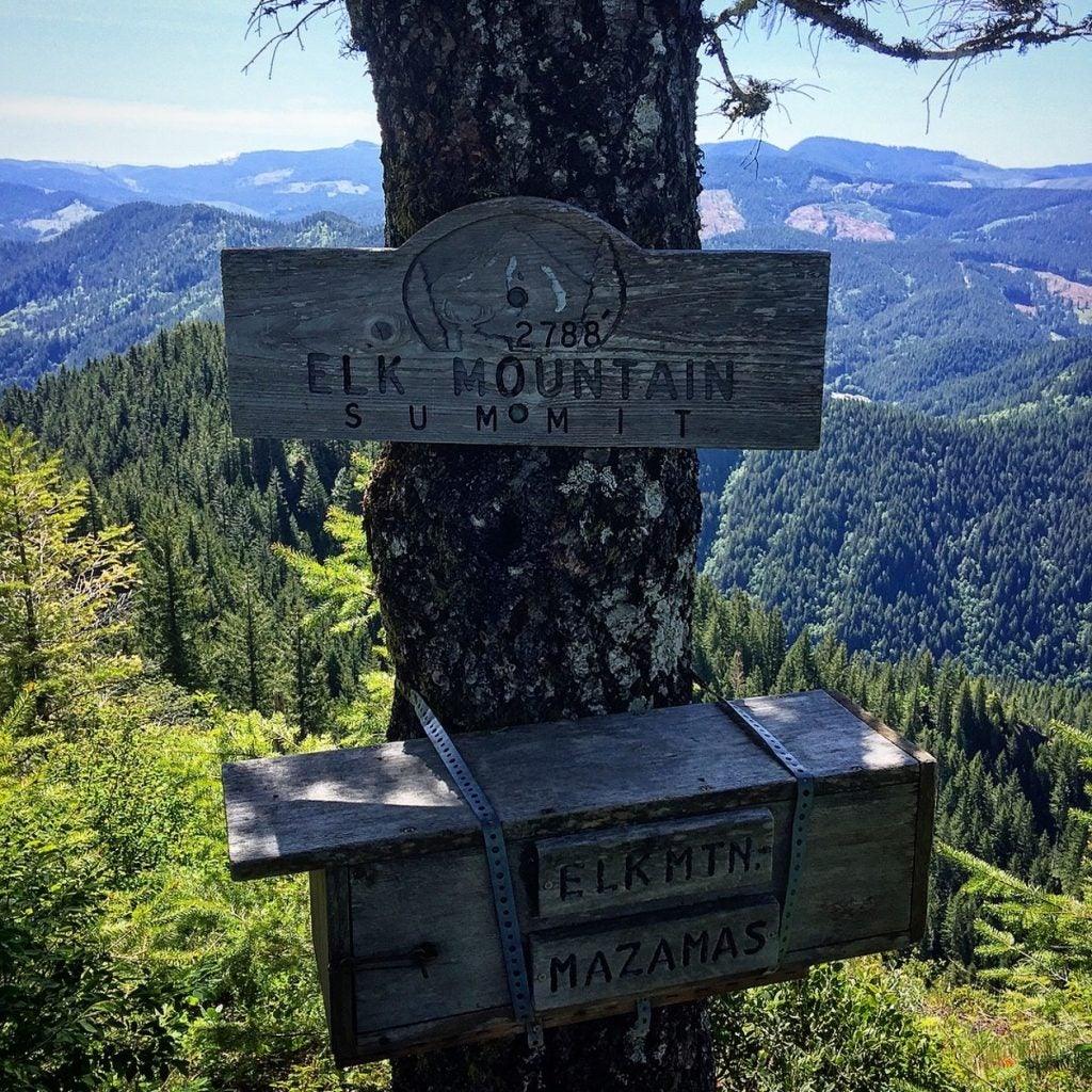 elk mountain summit is a popular portland day trip