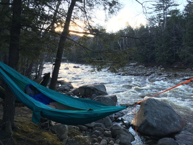 hammock hangs at hancock campgrounds in new hampshire