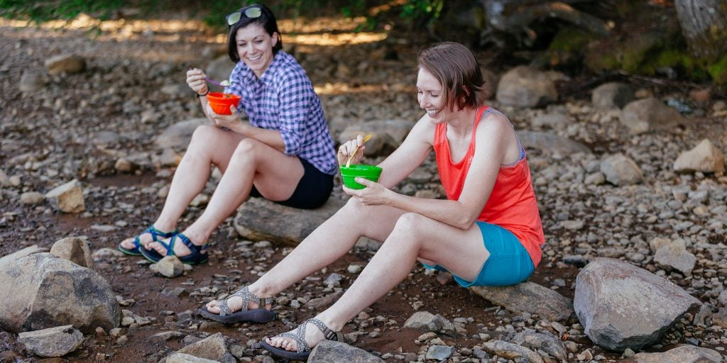 reusable camping dishes come in handy at the campground