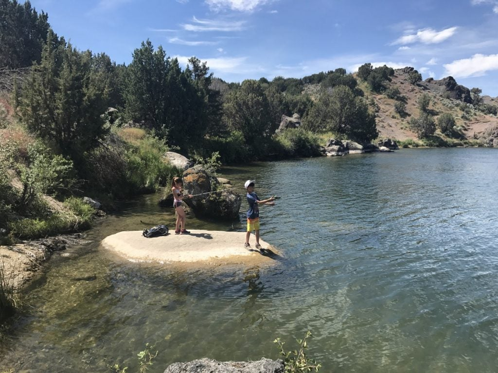 camping in idaho off of the oregon trail
