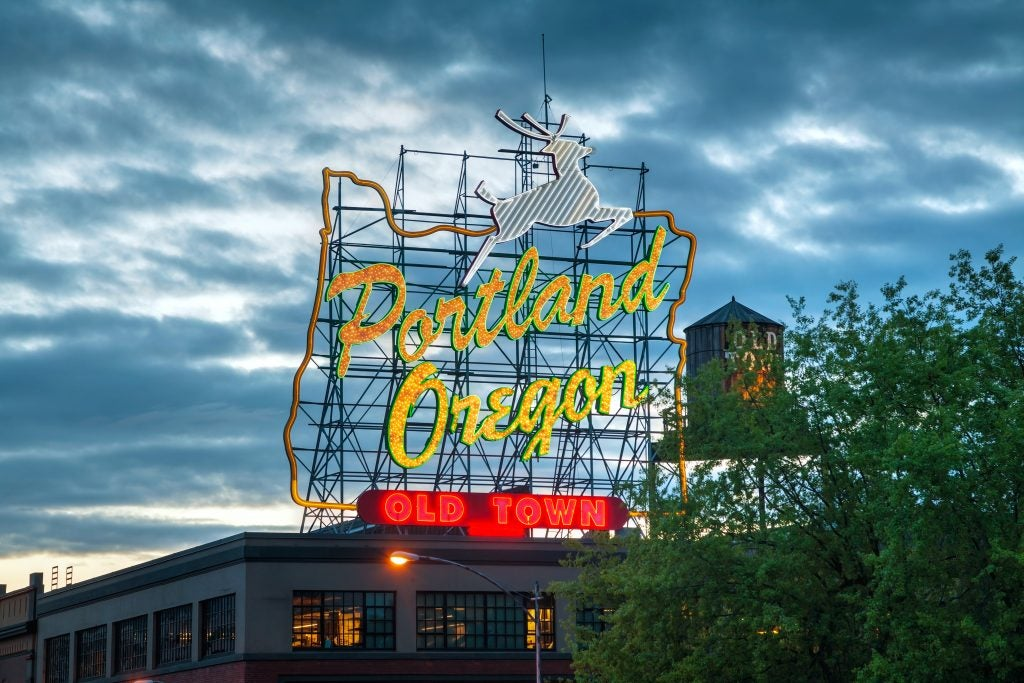 Old Town Portland Sign