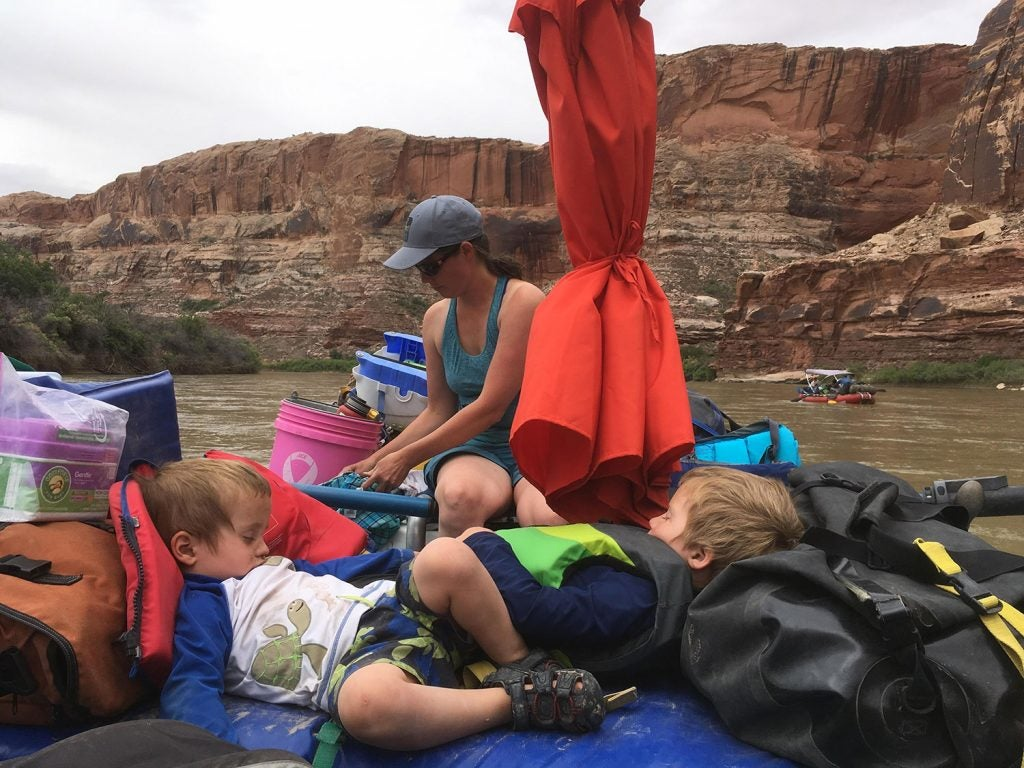 kids sleeping better at the campsite than at home