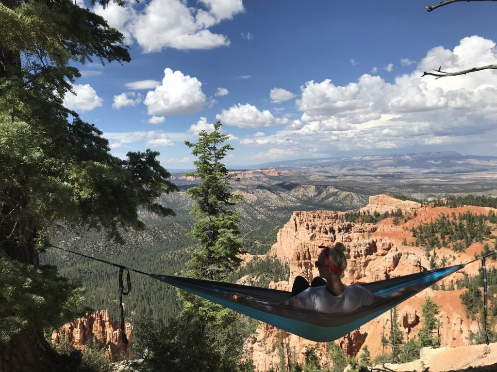 hammock camping in utah's mighty 5