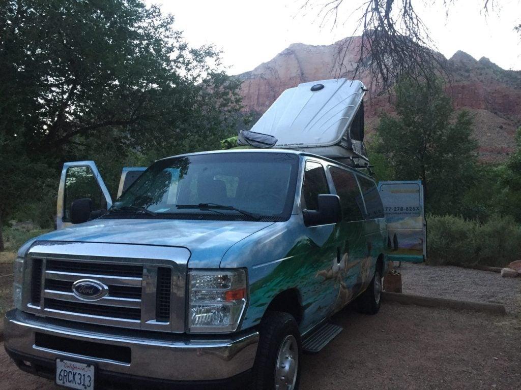 escape campervan in utah's mighty 5