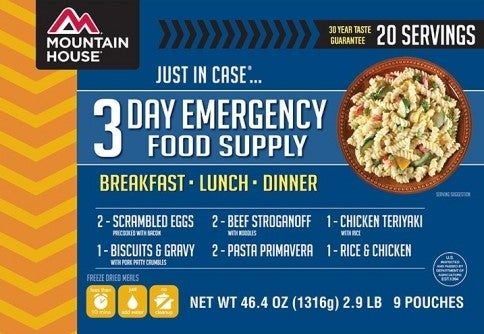 emergency preparedness kit mountain house emergency meals
