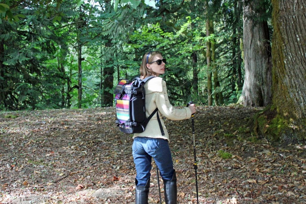 taking the ethnotek camera bag on a hike