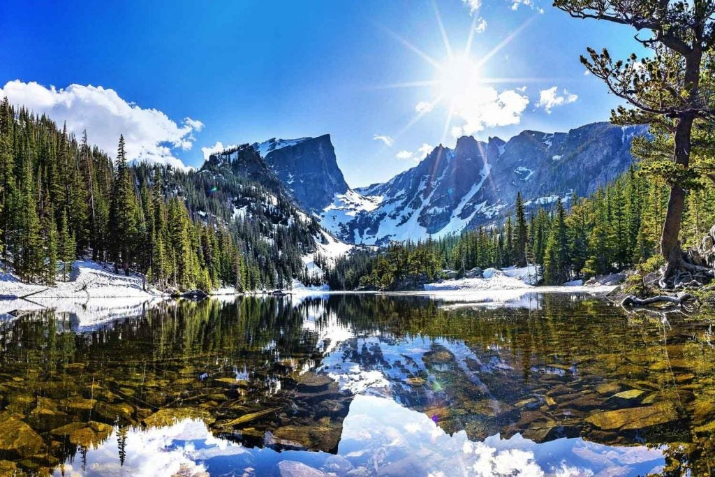 alpine lake in Rocky Mountain National Park