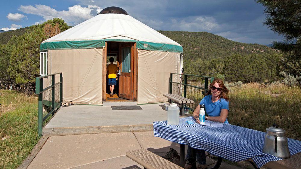 yurt camping in ridgeway