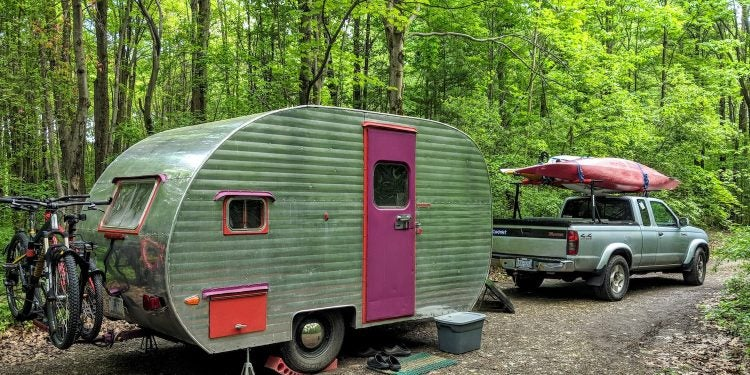 canned ham camper trailer