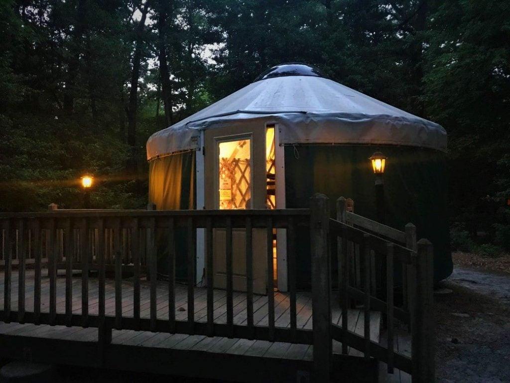 yurt camping in Delaware