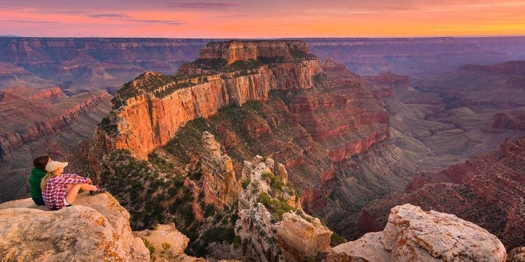 grand canyon campgrounds at sunset