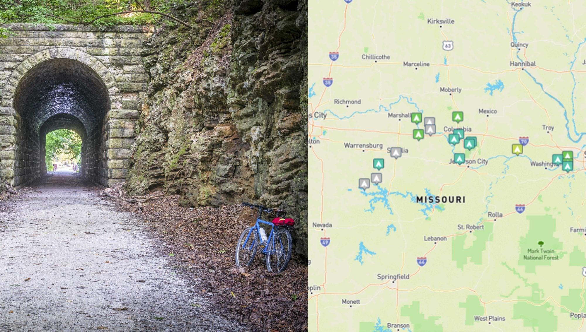 katy trail camping map