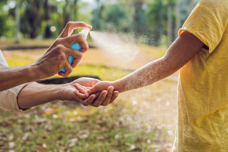 DIY natural bug spray application