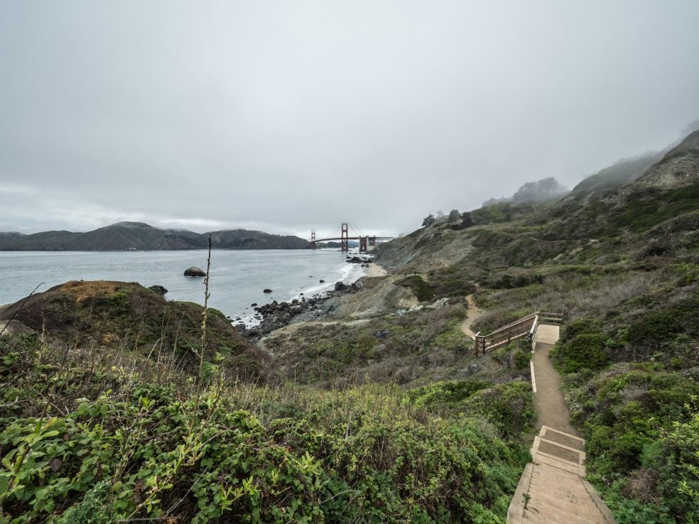 The Batteries to Bluffs Trail in San Francisco