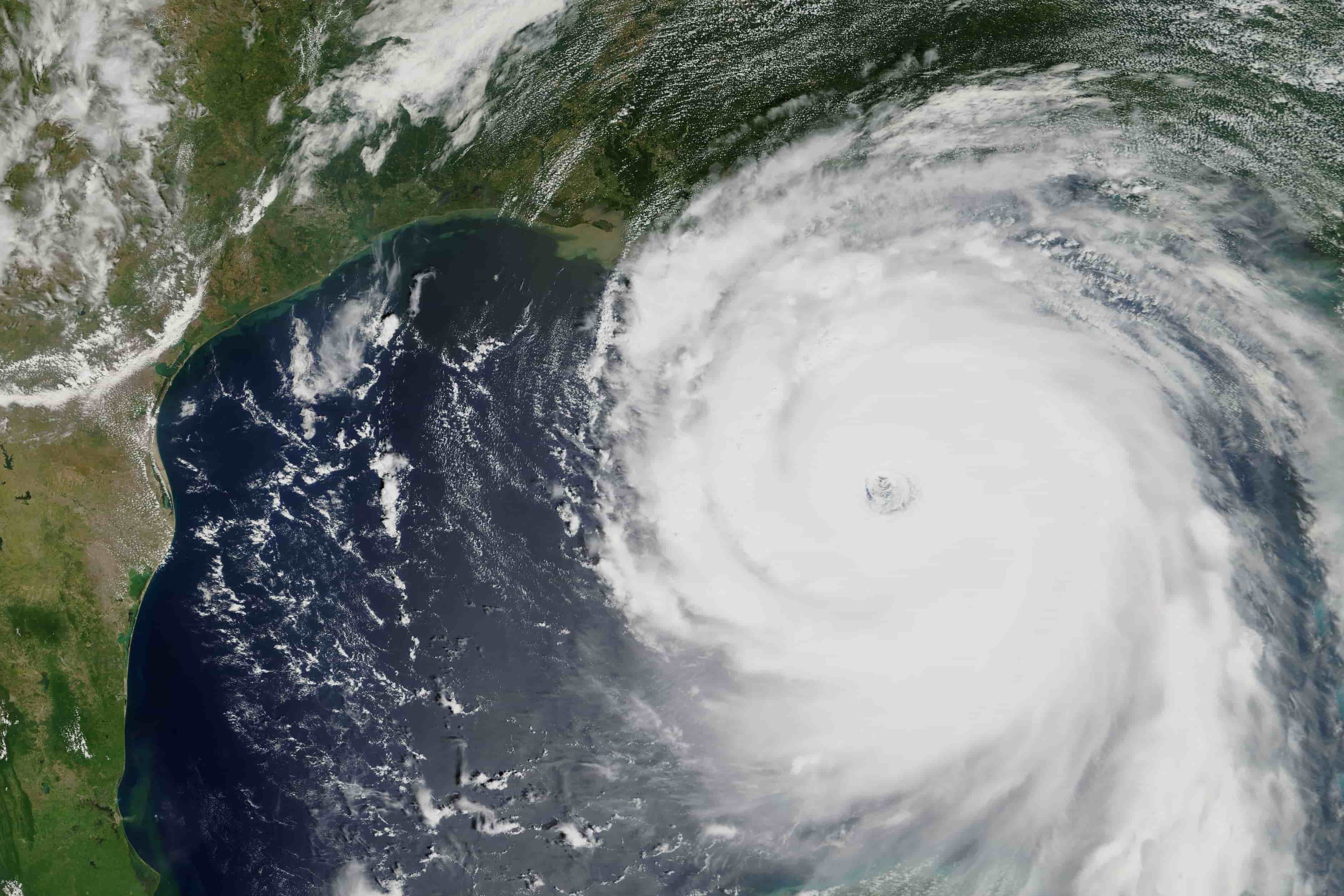 satellite view indicating the sprawl of hurricane katrina's affected areas