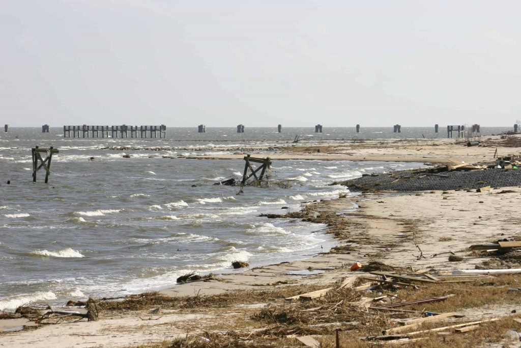 hurricane katrina's affected areas include this destroyed beach