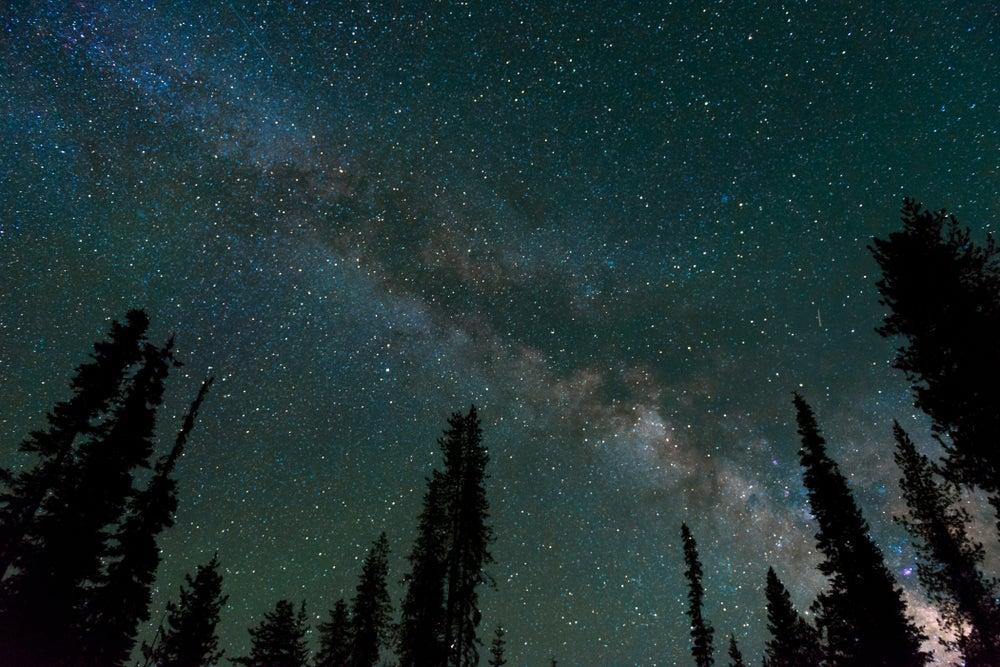 milky way night sky found on a dark sky map