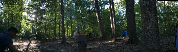 a shady tunica hills campground