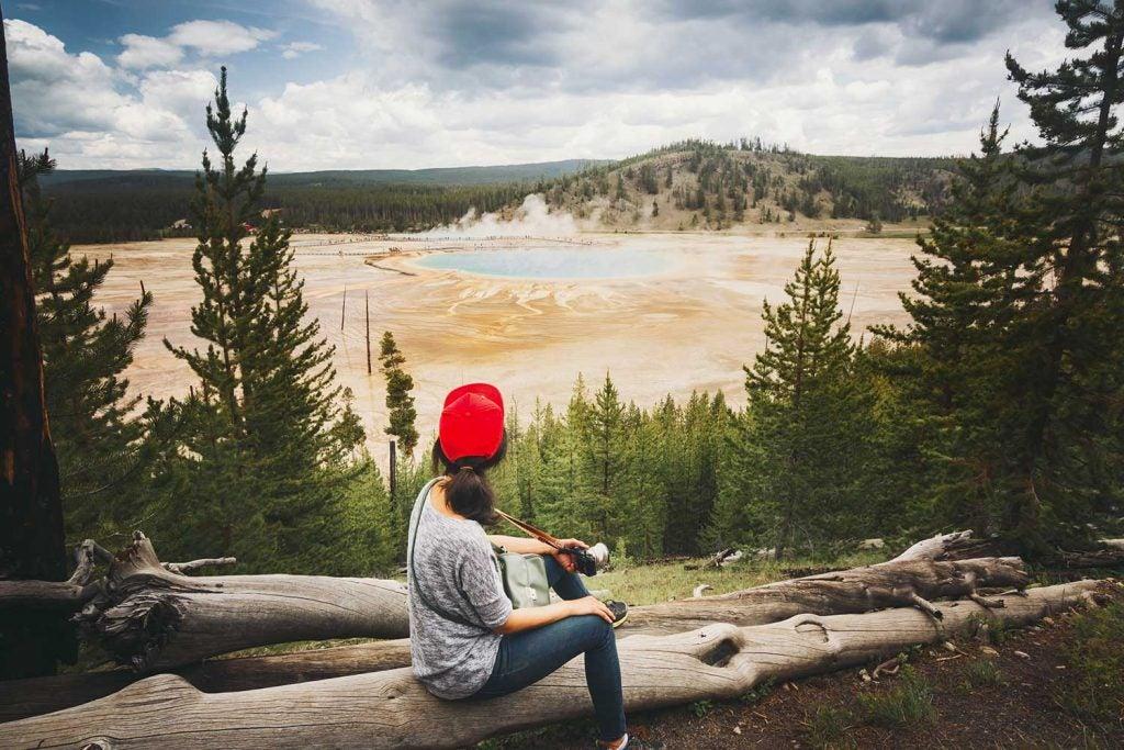 camp in wyoming near geysers