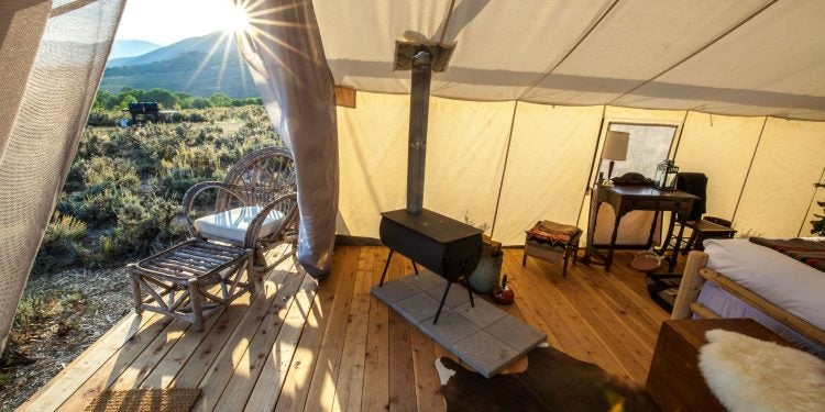yellowstone wildlife safari tent