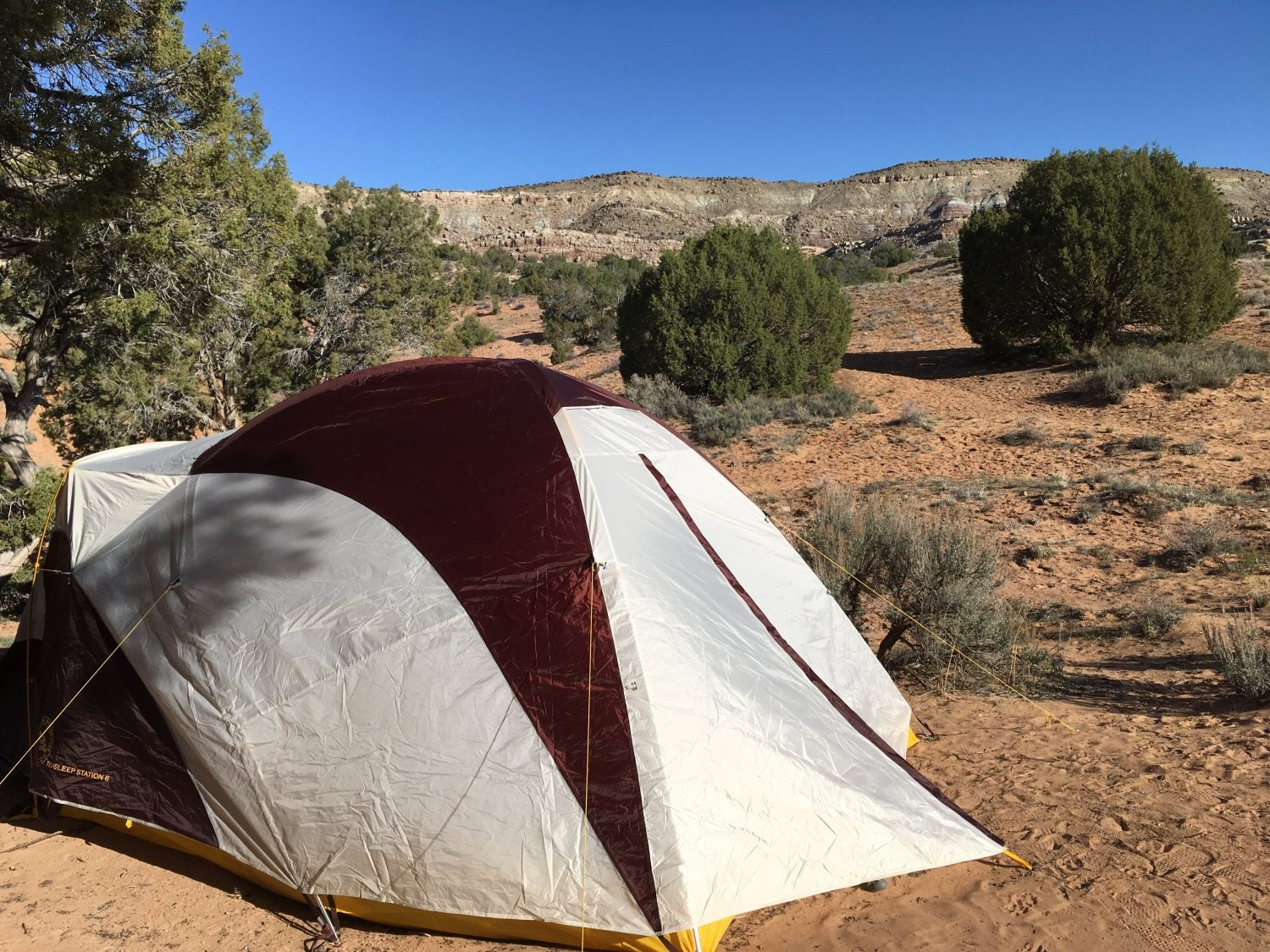 colorado desert campsite with tent