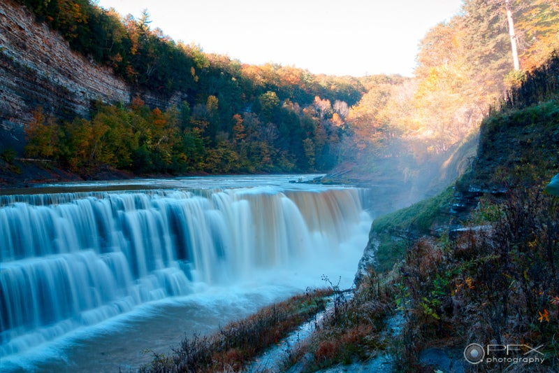 Lower Falls in Letchworth State Park along North Country Trail