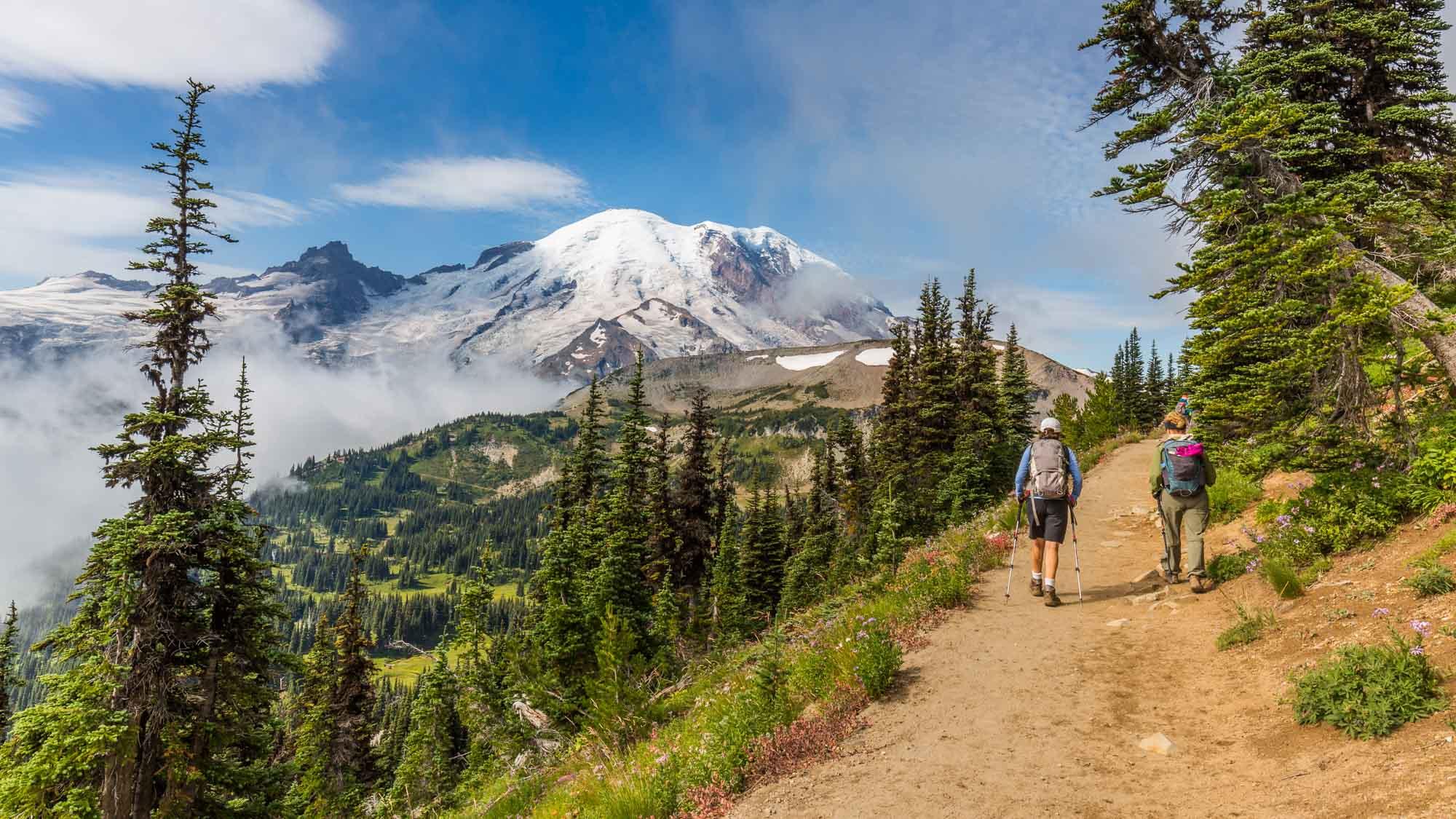 Mount Rainier hiking on the Wonderland Trail, Washington