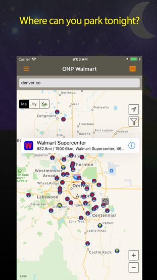 Screenshot of free parking app.