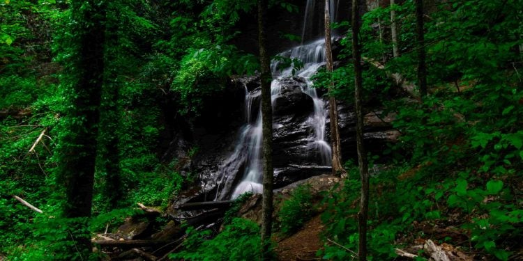 Upper Desoto Falls in the Chattahoochee-Oconee National Forest