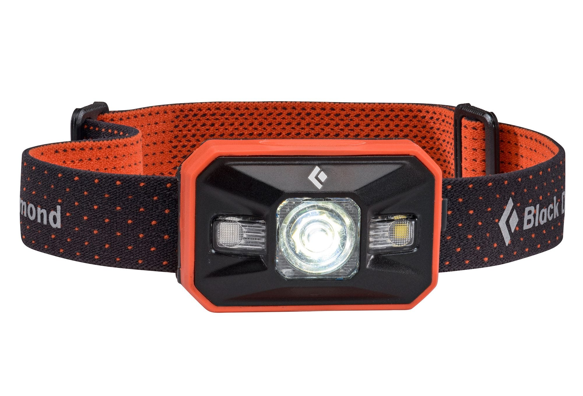 black diamond headlamp in red and black