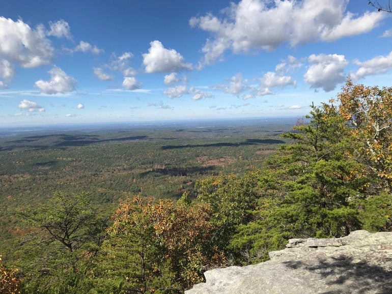 panormic view of cheaha state park from pinhoti trail