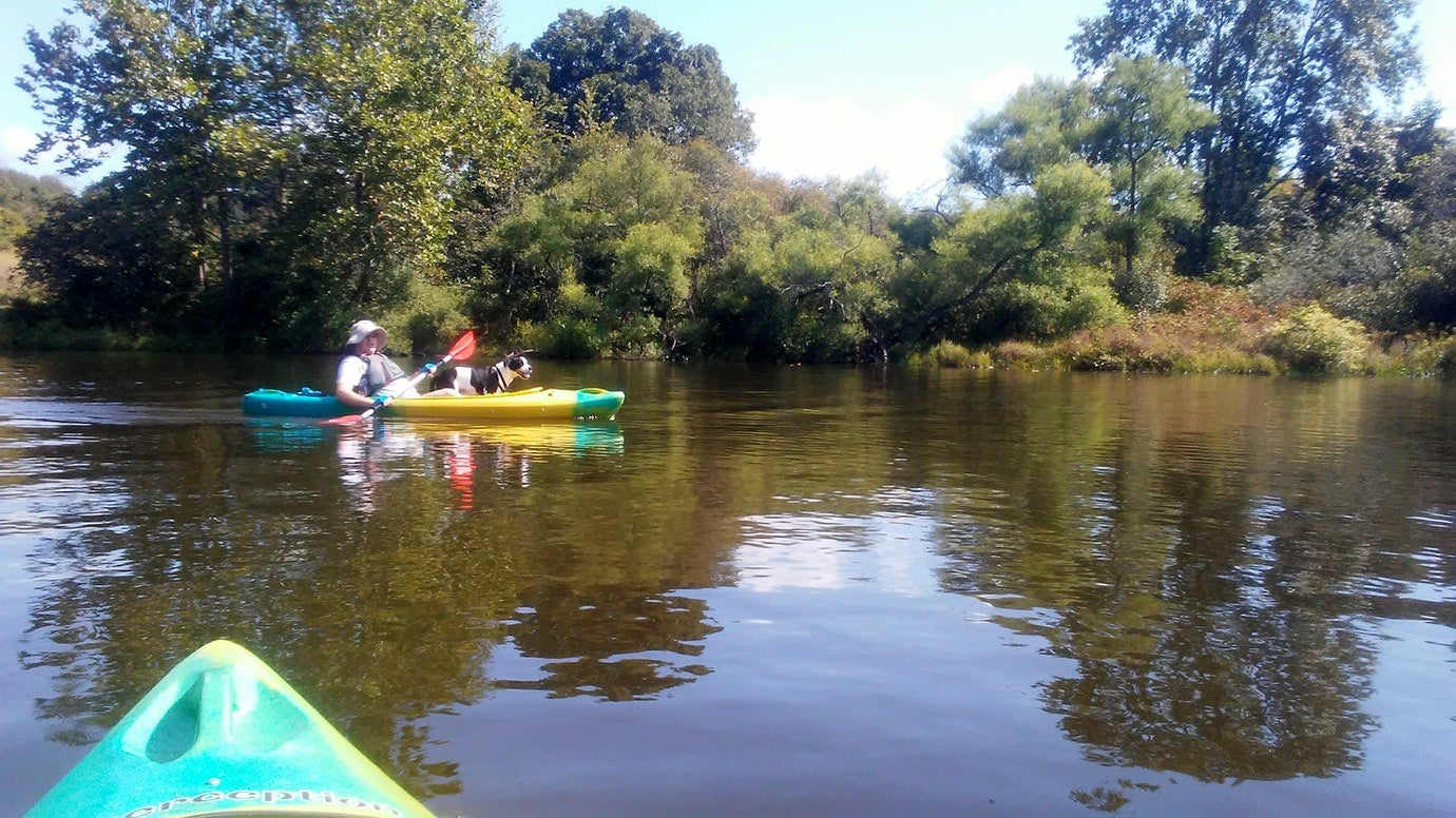 kayaking near the west thompson campgrounds in connecticut