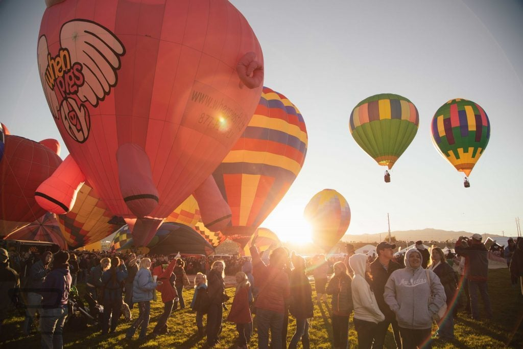 hot air balloon views at fall festivals in mississippi